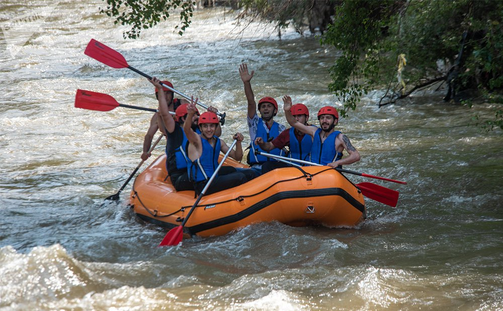 Rafting in the Armenian rivers
